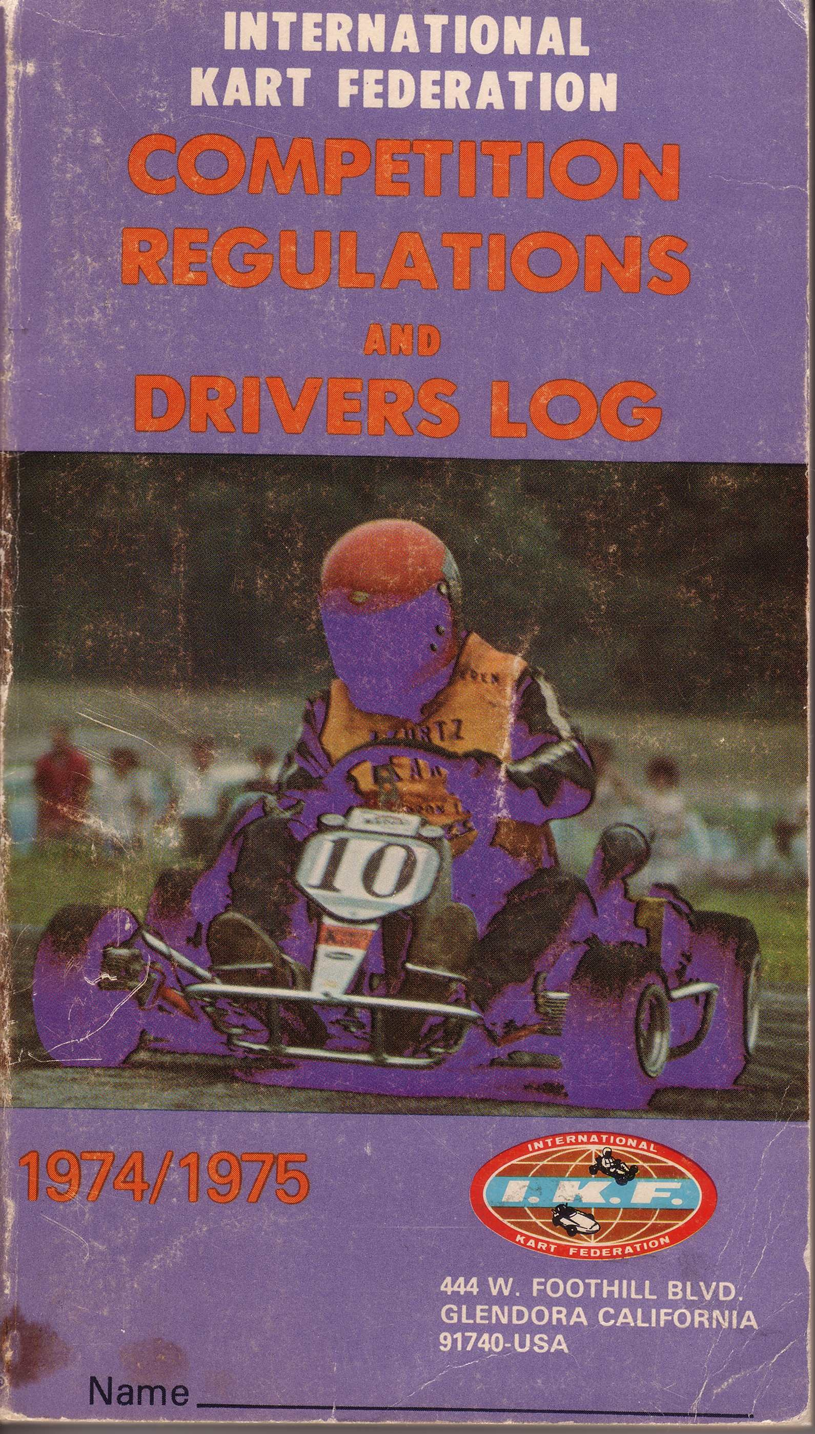 1974/1975 Rule Book Cover