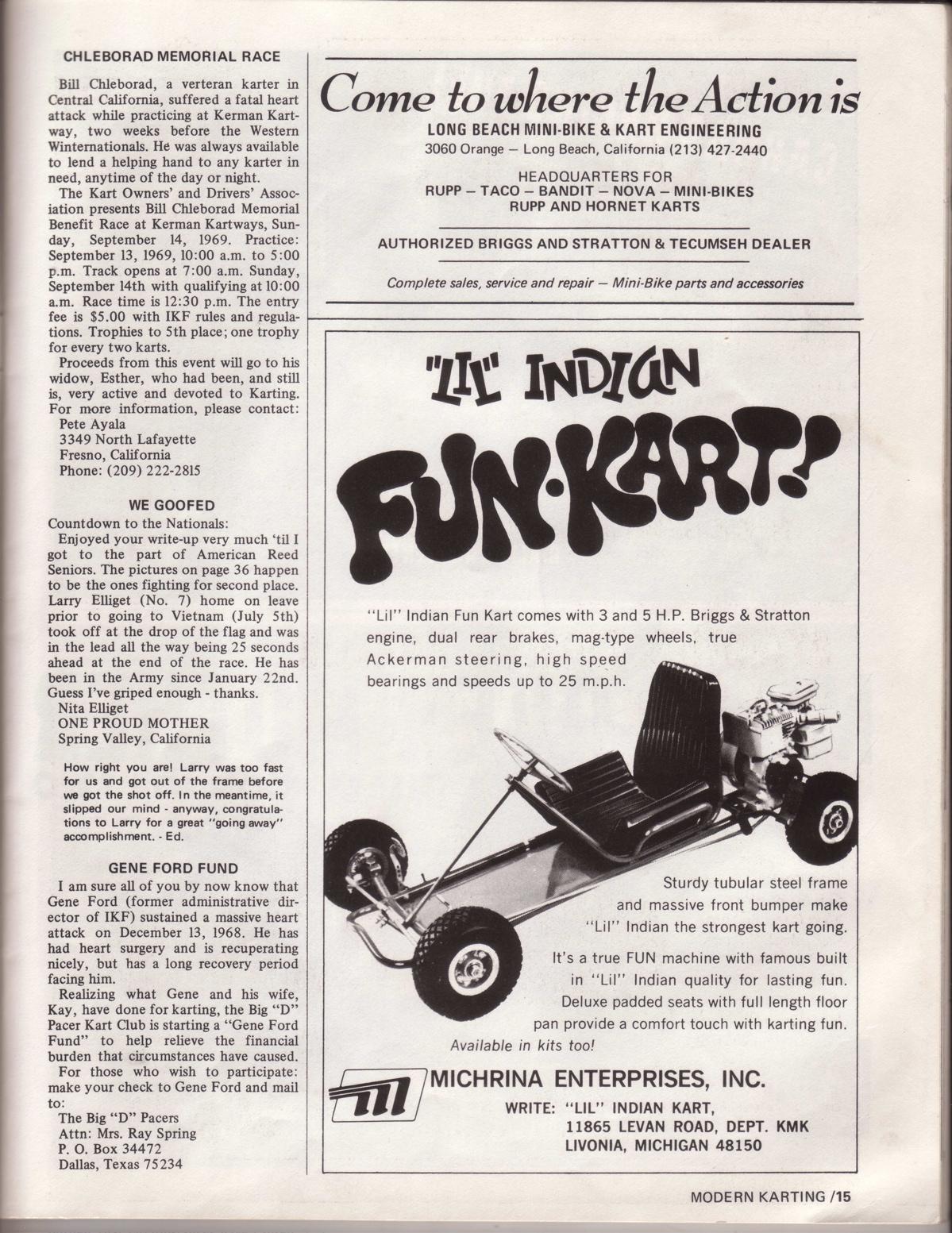 Lost Enduros: Modern Karting September 1969